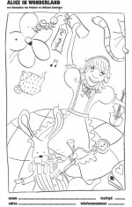 kleurplaat Alice
